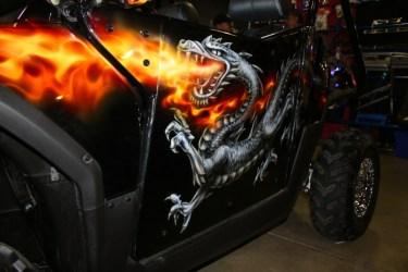 Polaris RZR with custom paint