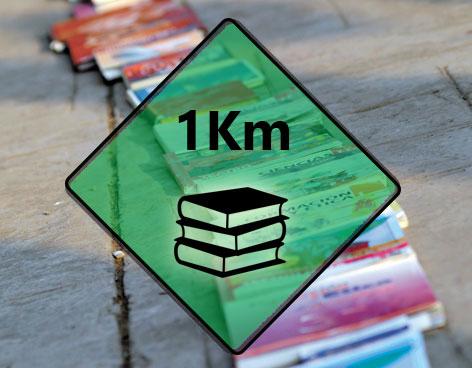 2do Kilómetro del libro, Donar para leer, leer para aprender.