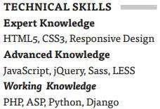 UX-Resume-Skills-Good-Example