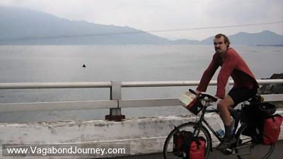 bicycling down vietnam coast