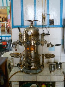 A 100 plus year old coffee machine where they make some darn good coffee.