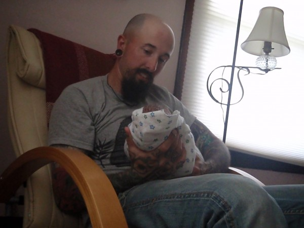 Looking at my daughter for the first time