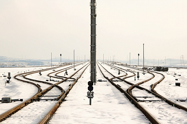 The tracks leading to China on one side and Europe on the other at Kazakhstan's Khorgos Gateway, one of the premier projects of the New Silk Road. Image: Khorgos Gateway.