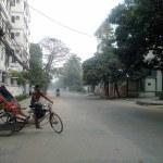Dhaka bicycle rickshaw driver