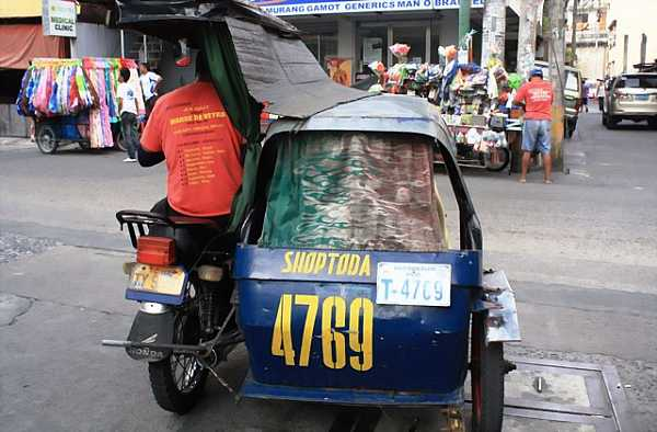 Registered tricycles have body numbers