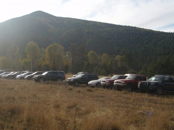Cars in the wilderness of America