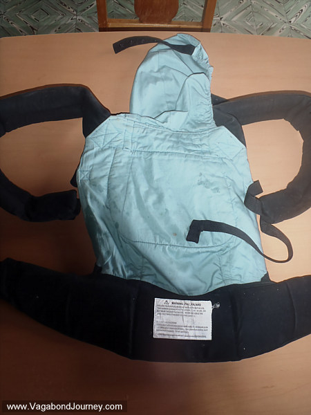 Ergo baby carrier back
