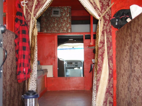 Homemade RV interior