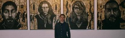 Woodblock print art show by Justin in Brooklyn