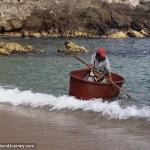 Man Rowing Dinghy Tub