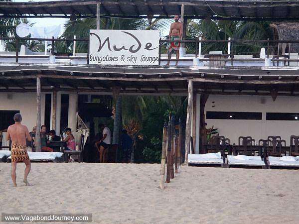 Nude hotel on Zipolite beach