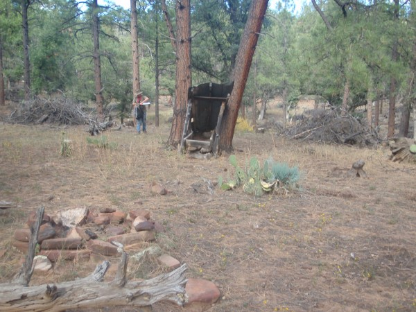 Primitive camp in forest of Arizona