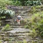 Traveler Swimsuit Climbs Rope