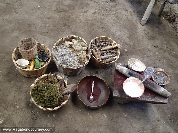 Zapotec dye making materials