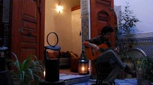Moroccan music, traditional Moroccan house, Fes, Fez