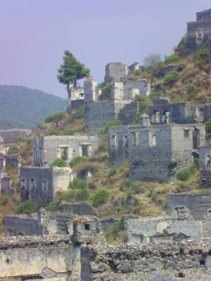 Kayakoy, ghost village, greek village, Fethiye, Turkey