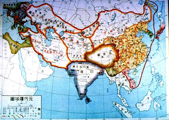 genghis khan map