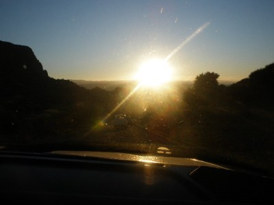 Moroccan sunset from Grand Taxi