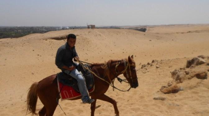 My beduin horseback guide a Giza