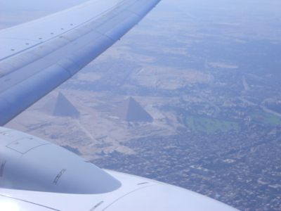 My first view of the pyramids