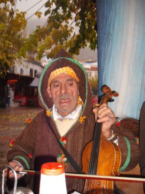 Moroccan fiddle player