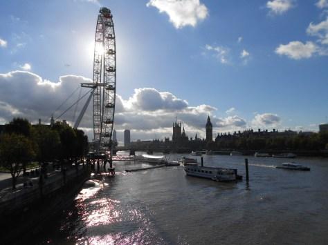 Thames River and London Eye