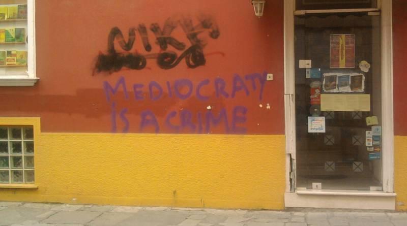 Mediacraty is a Crime - in Greece