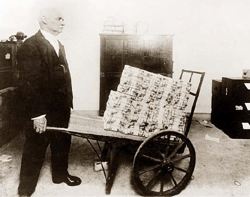 Quantitative easing - 1920s style. Fire up the printing press!