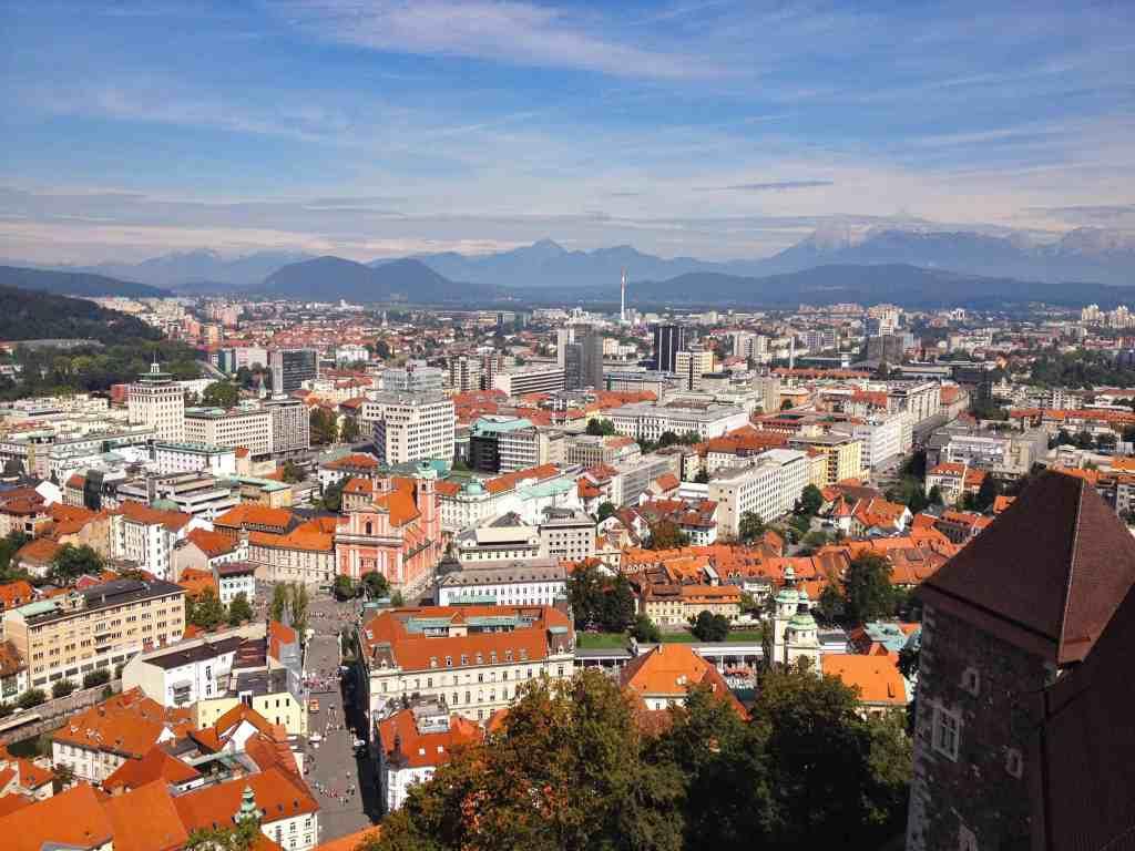 Beautiful view of Ljubljana