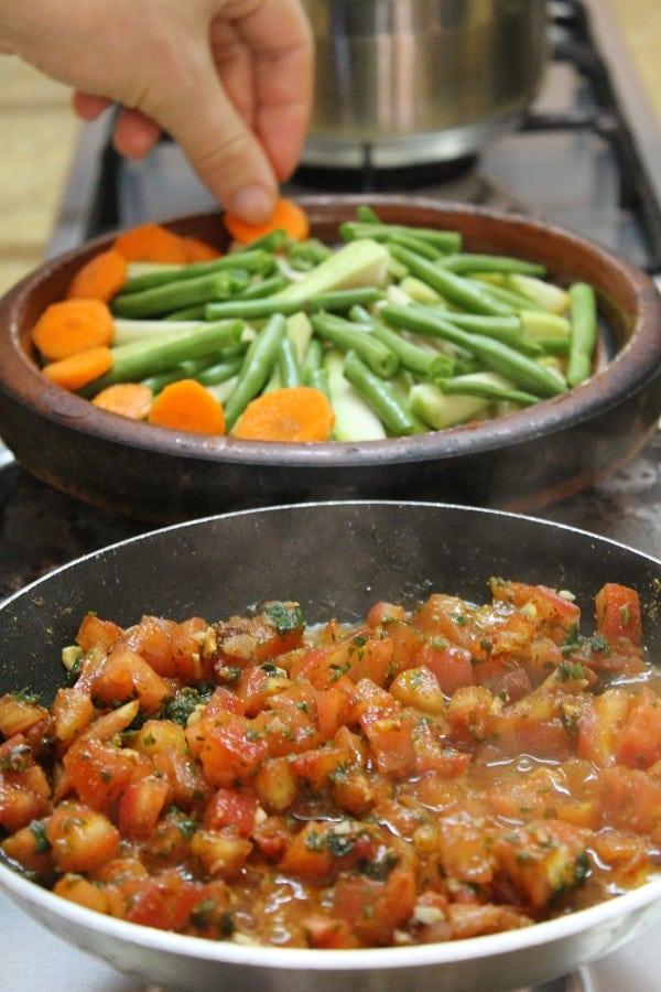 zaalouk and vegetable tajine