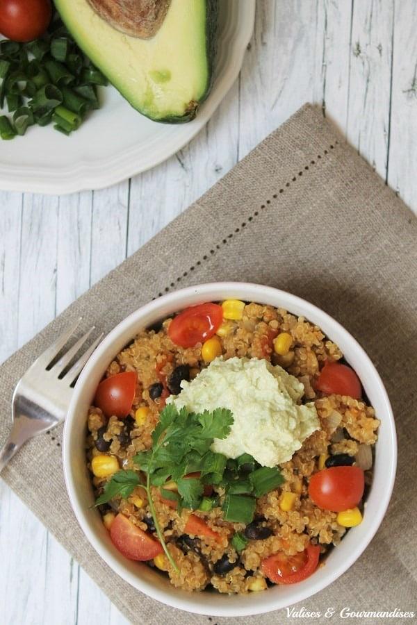 One-pot tex-mex quinoa casserole - vegan!