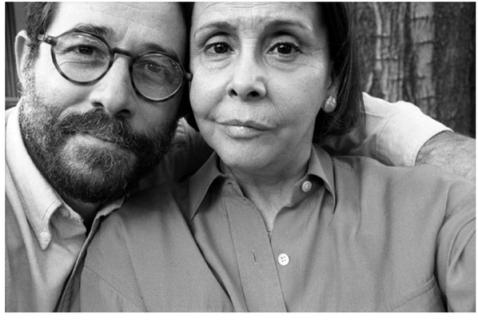 blanca en antiguo selfie con el fotografo Vasco Szinetar