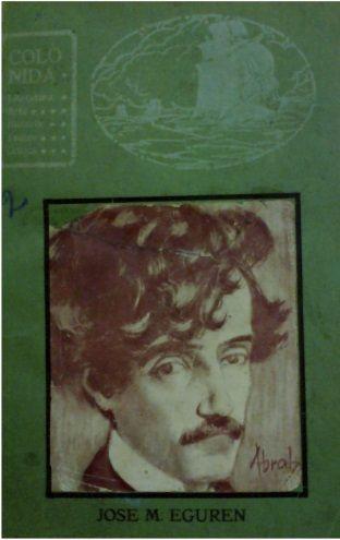 """Portada de la 2da ed. de """"Colónida""""en la que figura José María Eguren."""