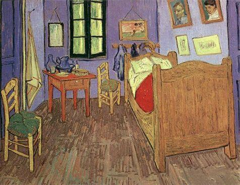 La habitación de Arles, por Van Gogh.