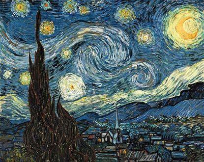 Noche estrellada, por Van Gogh 1889