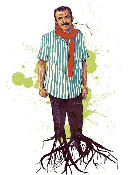 Caricatura del poeta Raúl Gómez Jattin