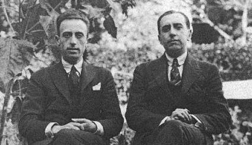 (Der.) Juan Larrea y (izq.) Vicente Huidobro.