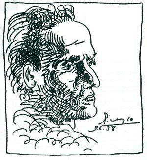 Vallejo en trazo de Pablo Picasso