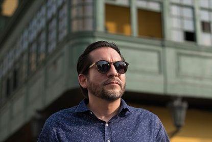 El escritor Leonardo Aguirre. Crédito de la foto Miguel Mejía Castro