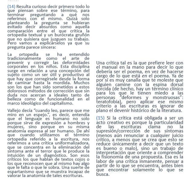 Réplica del colectivo AL referida al segundo artículo aparecido en V&C. Captura de pantalla de la página web del colectivo. Resaltado nuestro. Fecha de publicación: 28/03/18.
