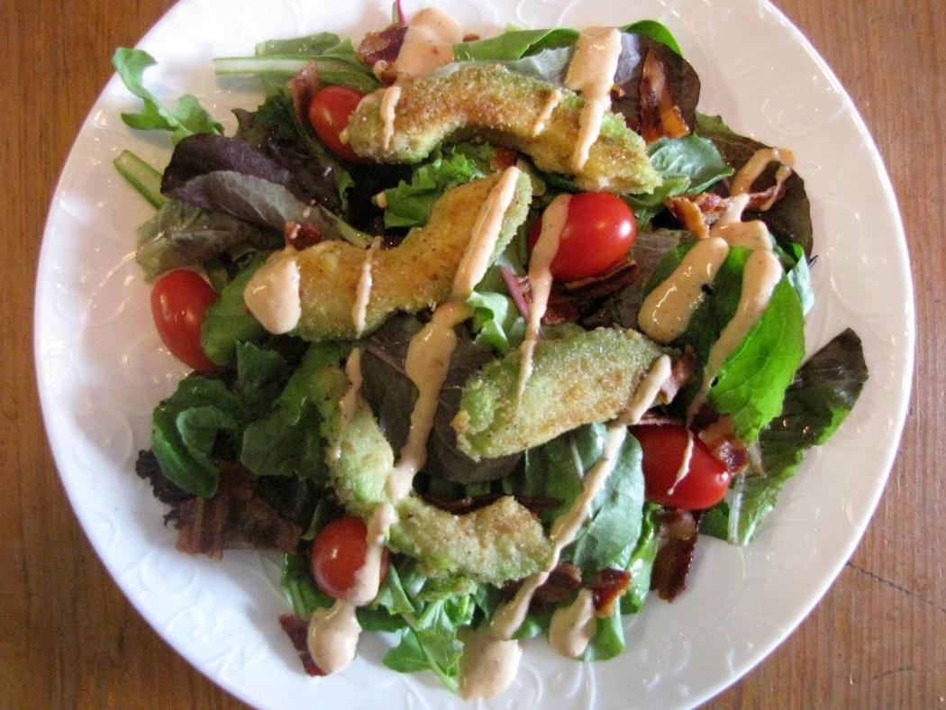 Crispy Avocado BLT Salad
