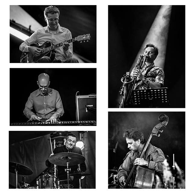 Jazzliiton juhlavuoden orkesteri: Mikko Innanen, Teemu Viinikainen, Kari Ikonen, Uffe Krokfors, Teppo Mäkynen