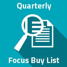 Quaterly Focus Buy List
