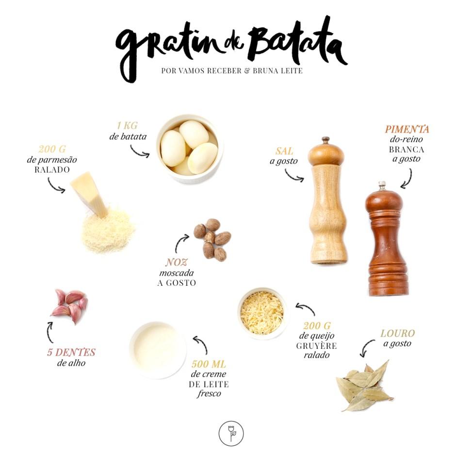 receita gratin de batata
