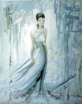 ice blue woman