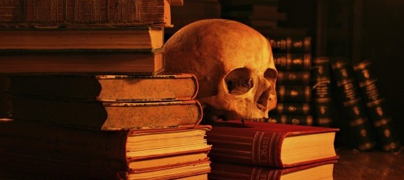 Skull-and-books