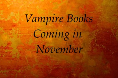 vampire books coming in november