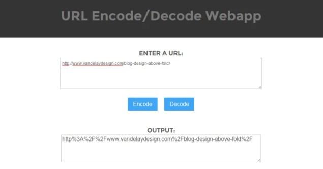 url encode decode webapp