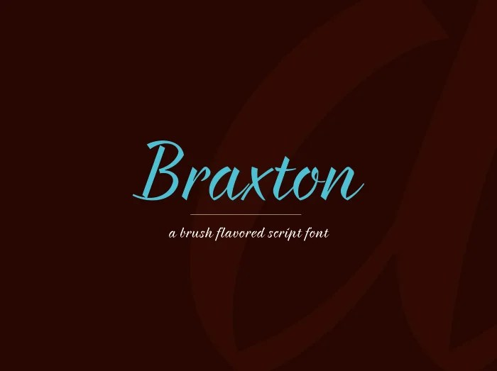 Braxton Calligraphy Font