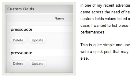 How to Display Values of a Custom Field Key